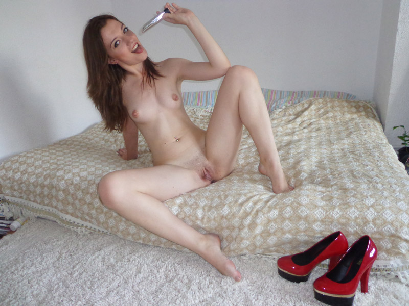Erotic spanking in public
